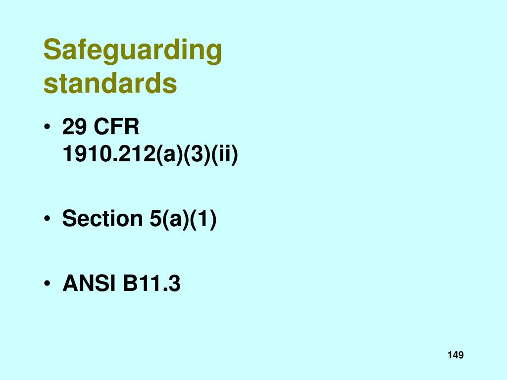 Safeguarding standards