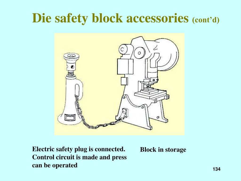 Die safety block accessories