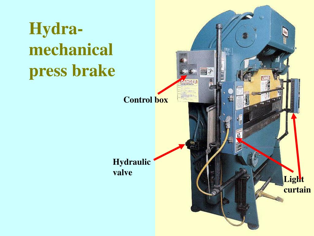 Hydra-mechanical press brake