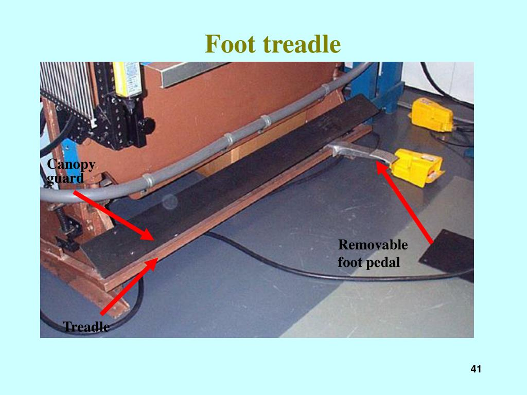 Foot treadle