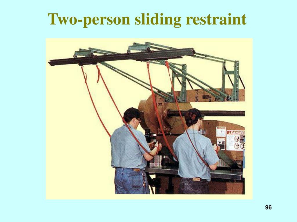 Two-person sliding restraint