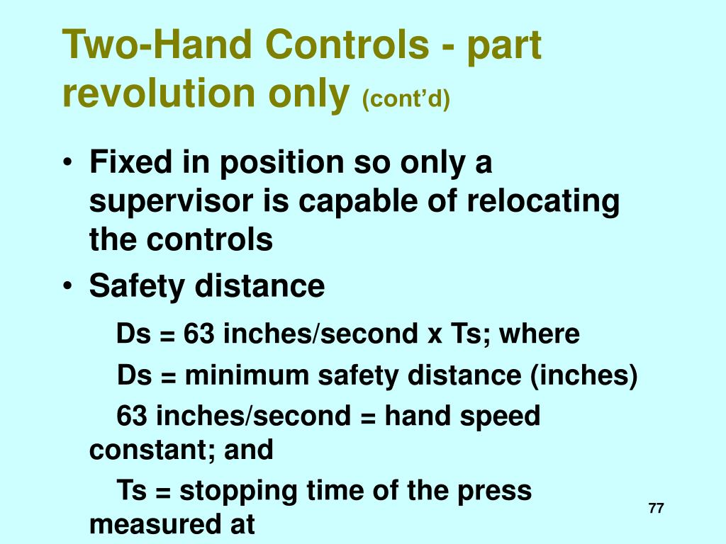 Two-Hand Controls - part revolution only