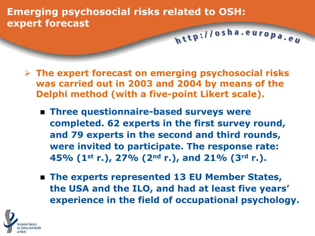 Emerging psychosocial risks related to OSH: