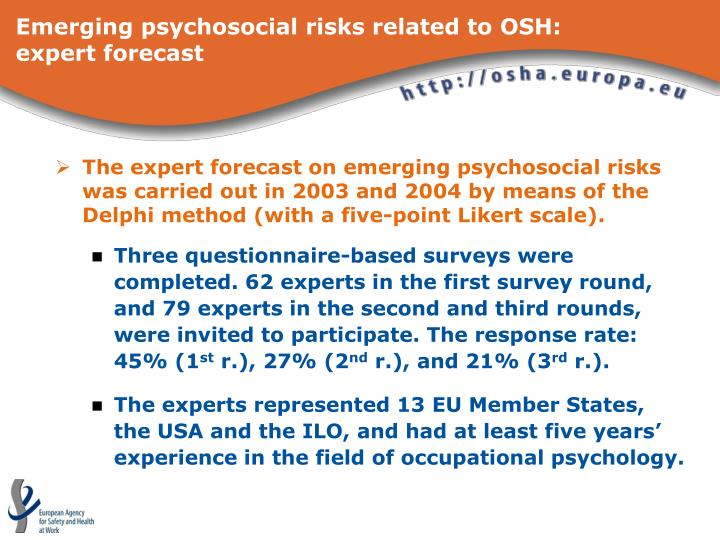 Emerging psychosocial risks related to osh expert forecast3 l.jpg