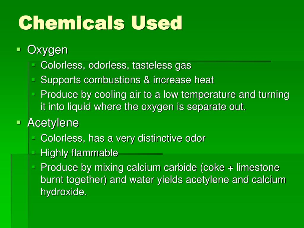 Chemicals Used