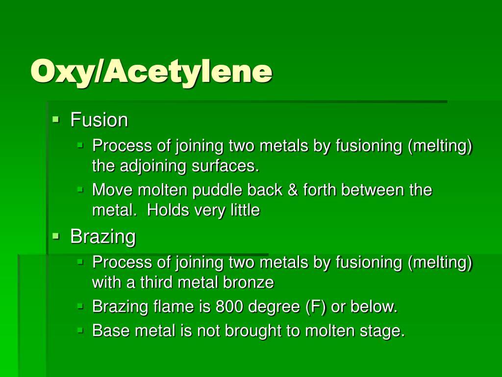 Oxy/Acetylene