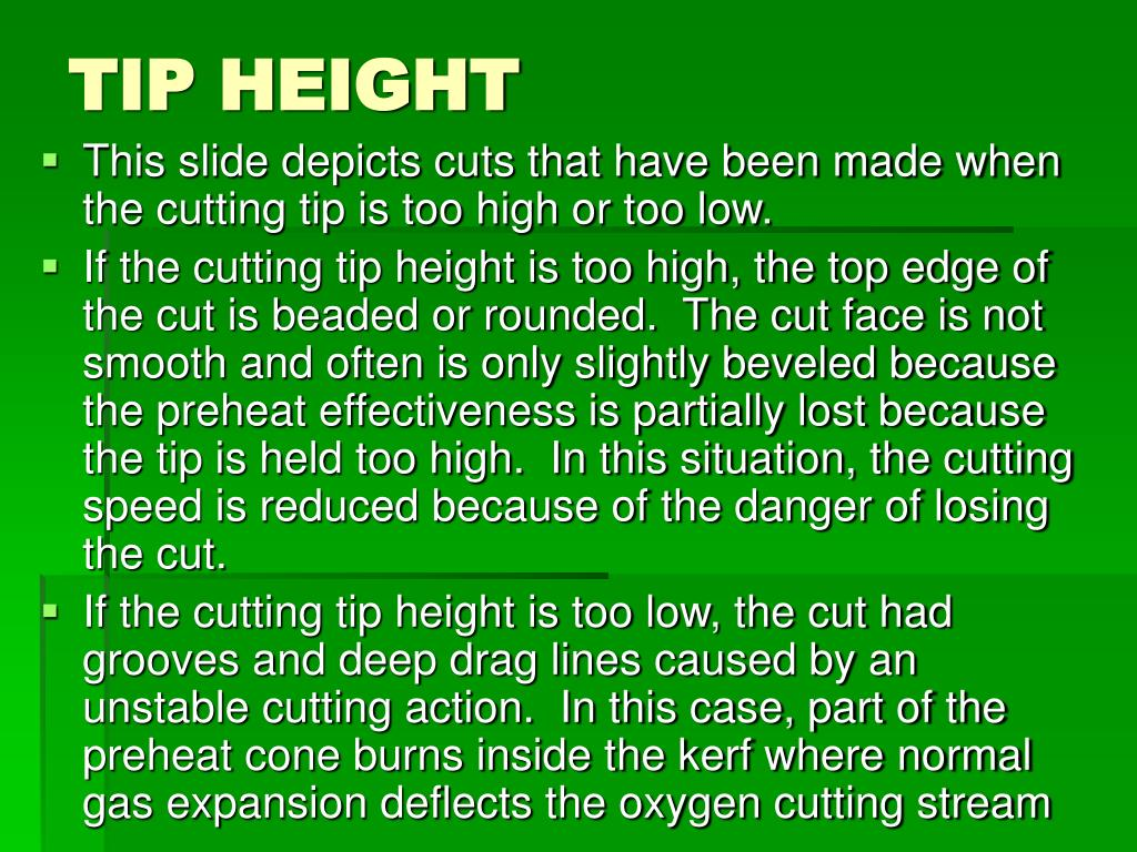 TIP HEIGHT