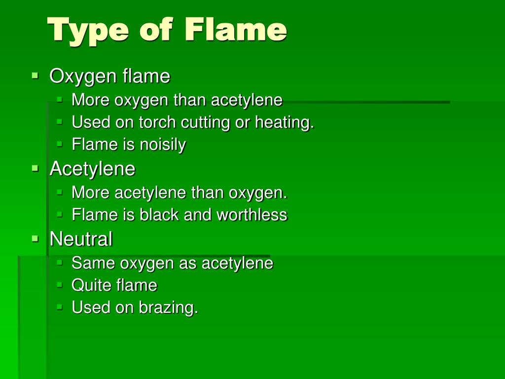 Type of Flame