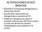 alteraciones acido basicas