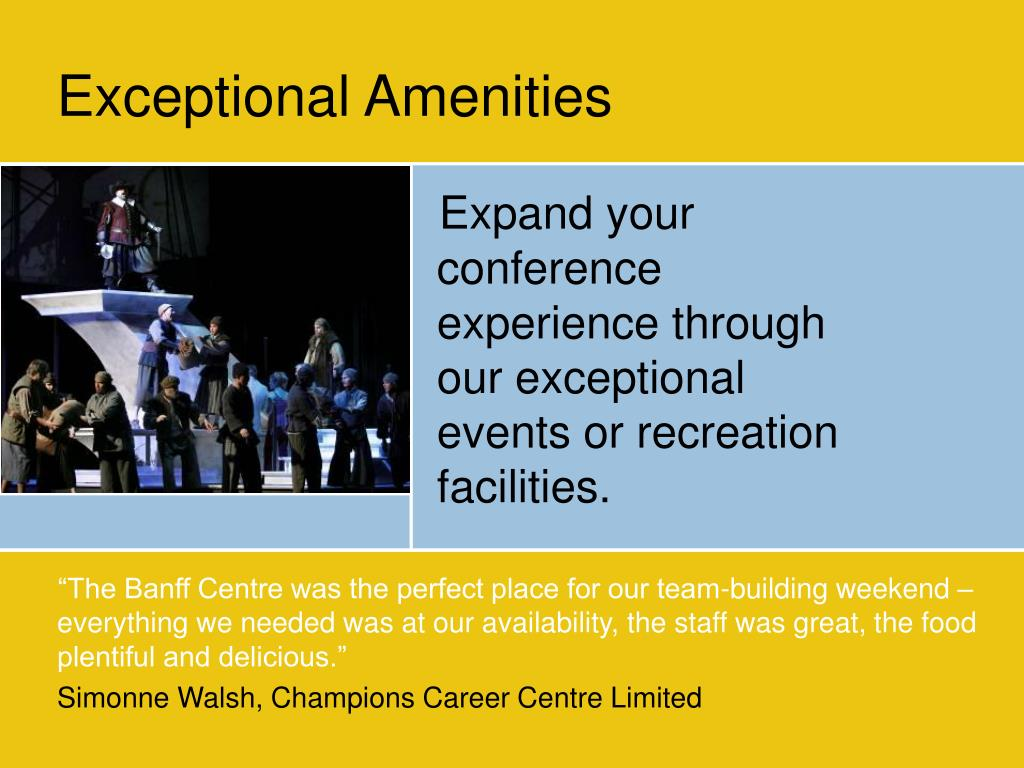 Exceptional Amenities