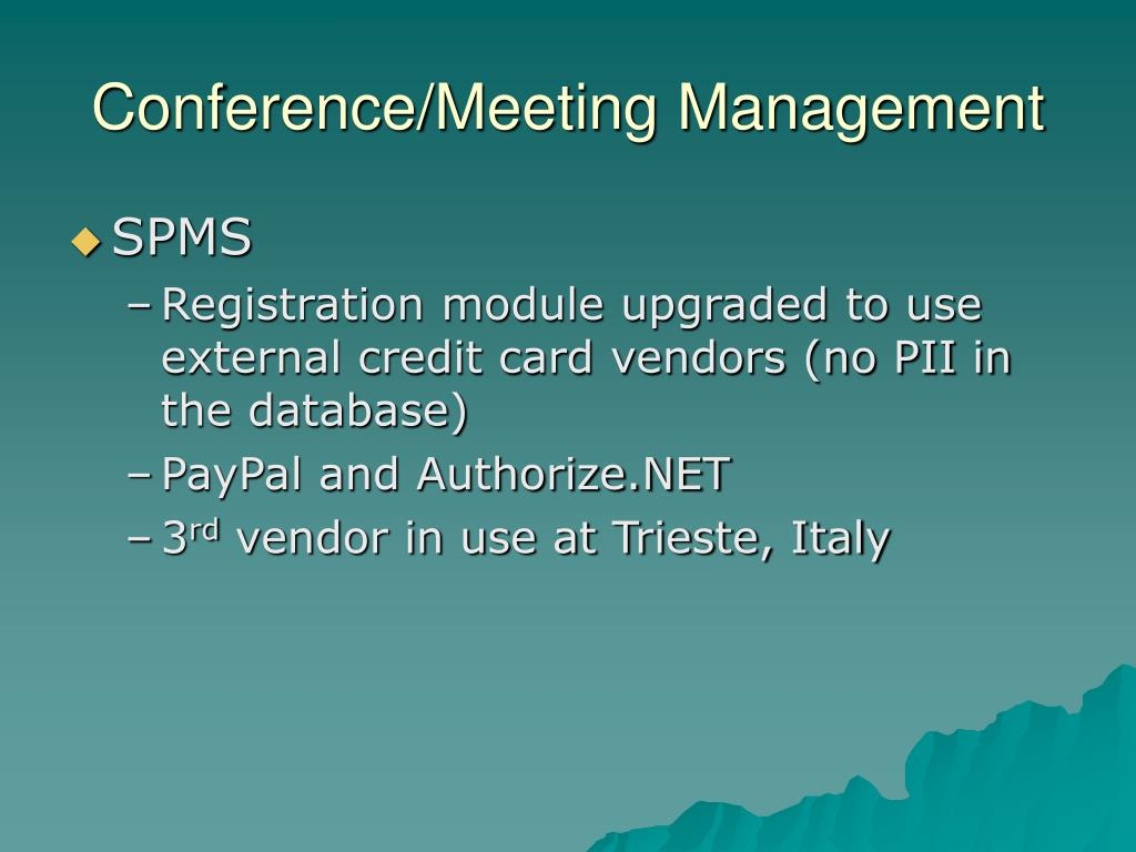 Conference/Meeting Management