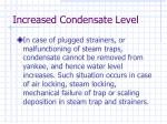 increased condensate level16