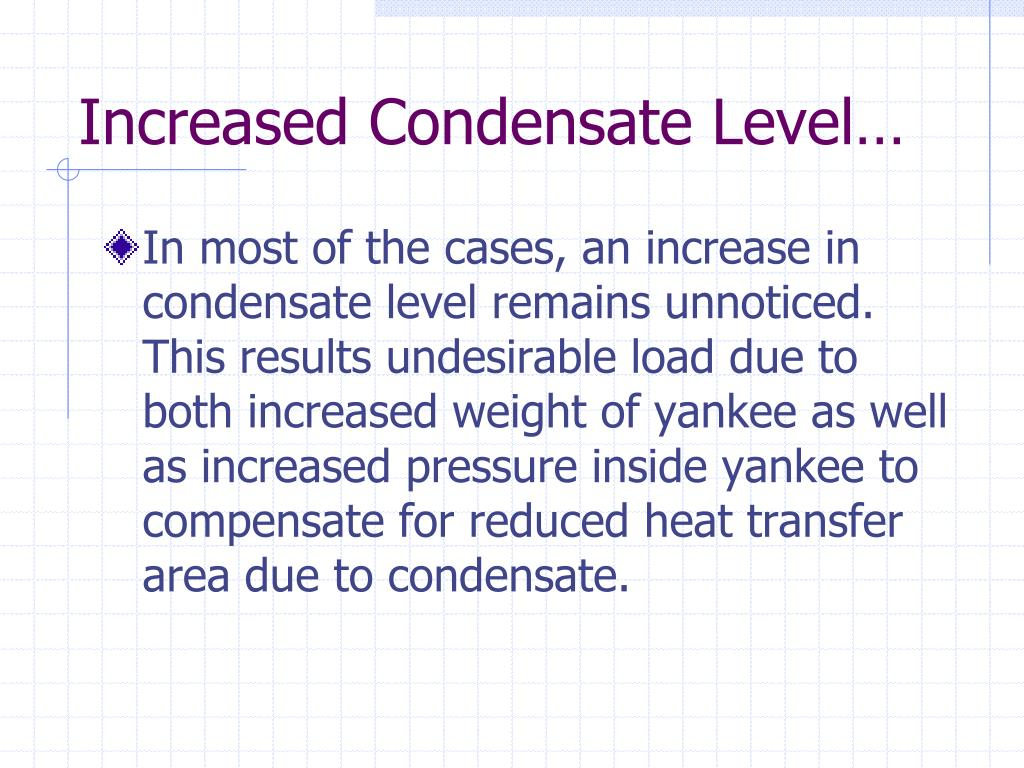 Increased Condensate Level…