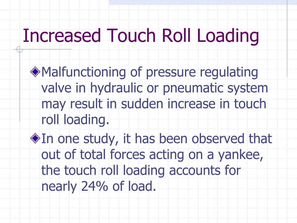 Increased Touch Roll Loading