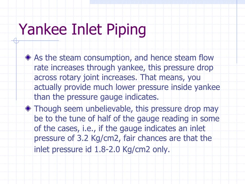 Yankee Inlet Piping