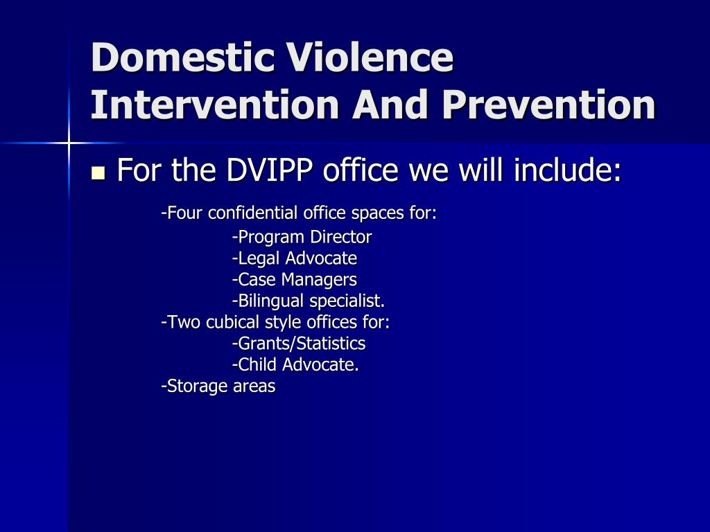 Domestic Violence Intervention And Prevention