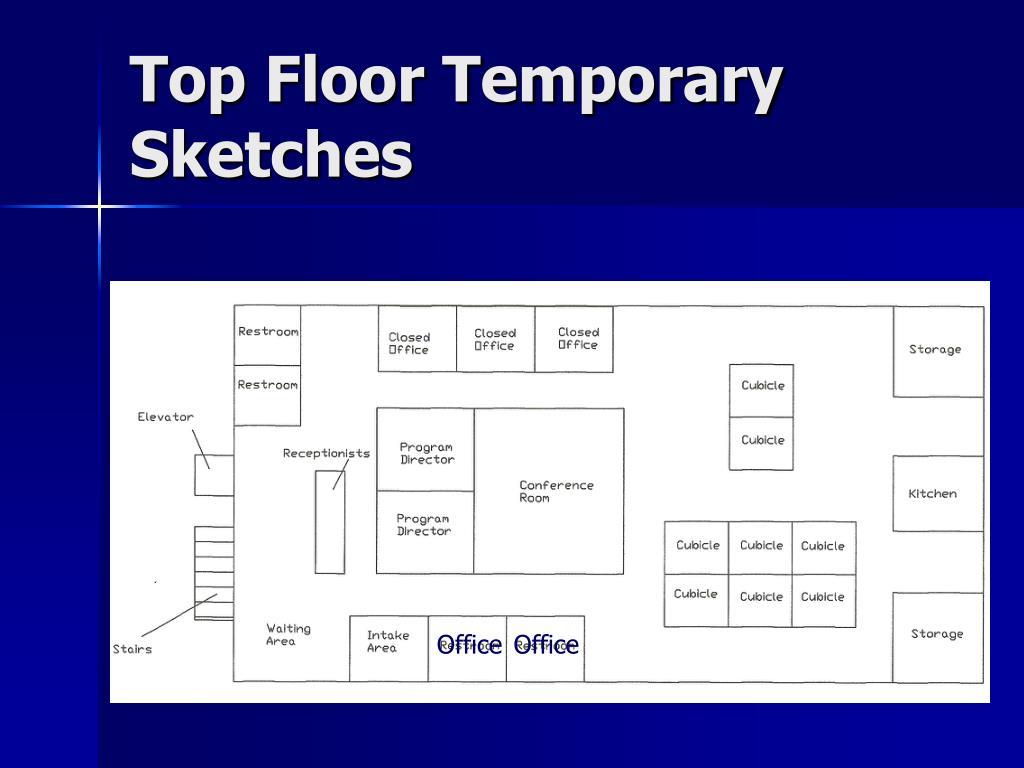 Top Floor Temporary Sketches