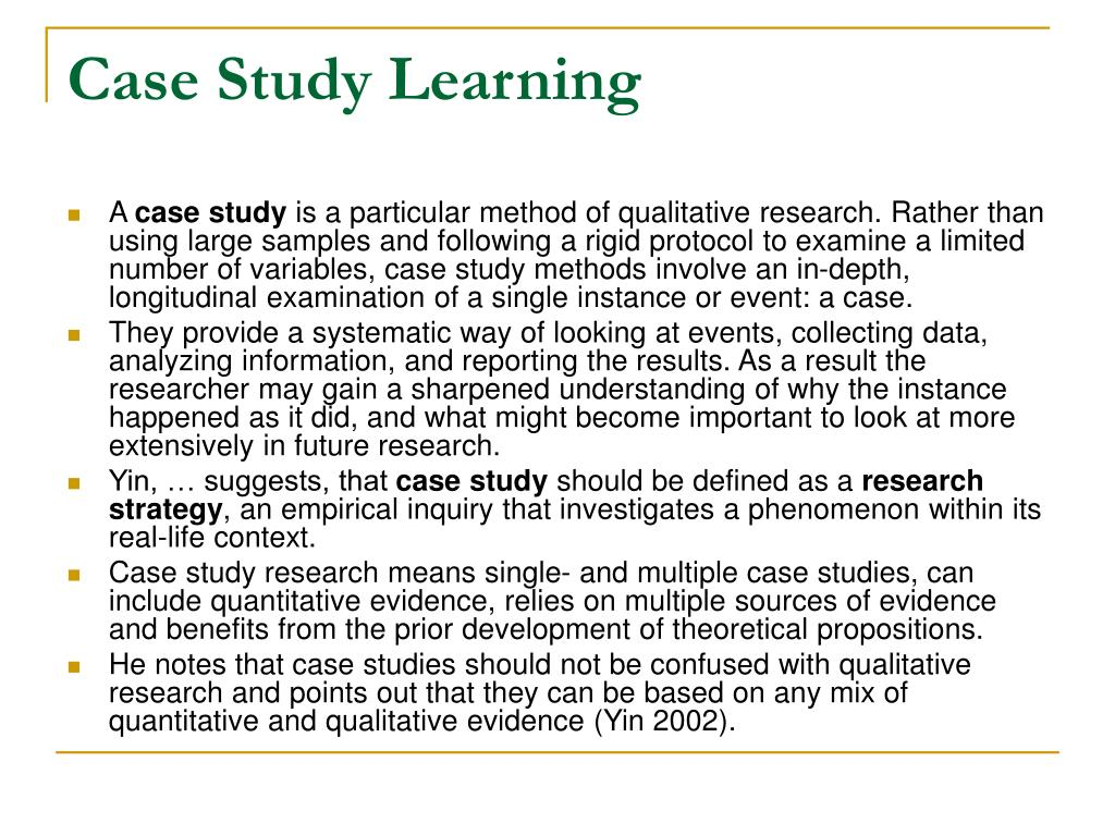 Case Study Learning