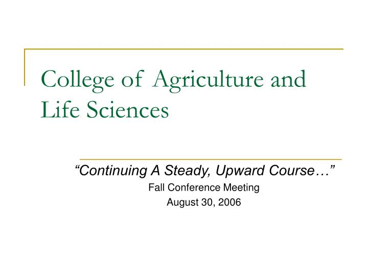 College of agriculture and life sciences l.jpg