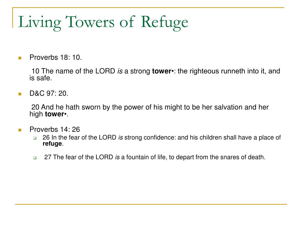 Living Towers of Refuge