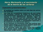 harry markowitz y el nacimiento de la teor a de las carteras