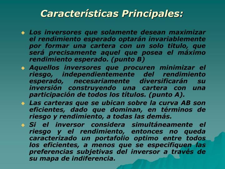Características Principales: