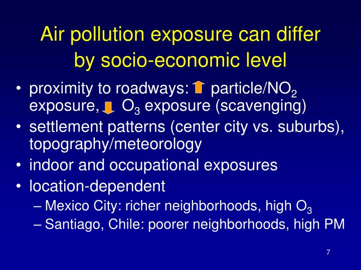 Air pollution exposure can differ by socio-economic level