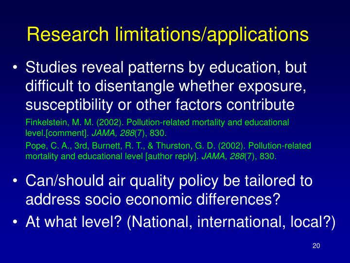 Research limitations/applications
