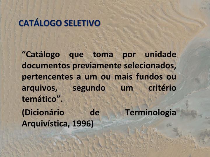 CATLOGO SELETIVO