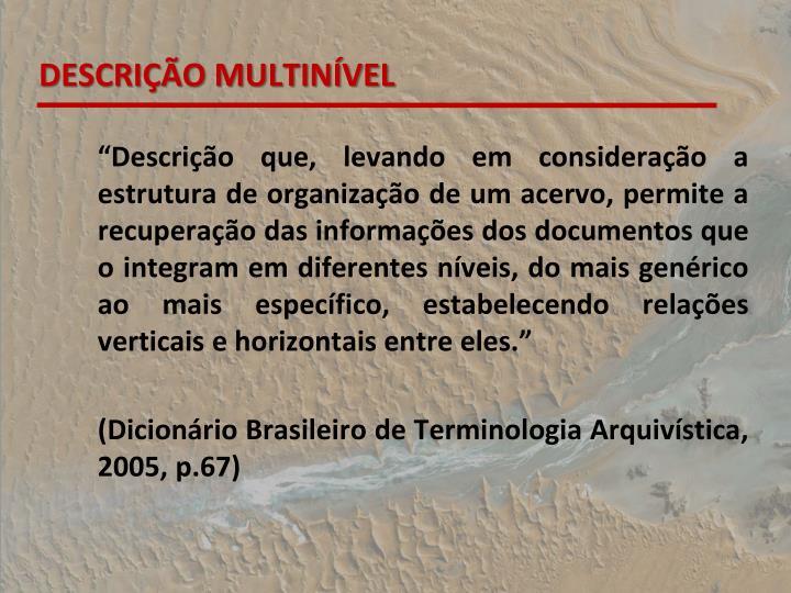 DESCRIO MULTINVEL