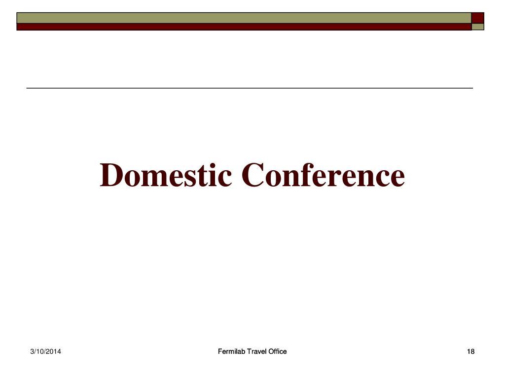 Domestic Conference
