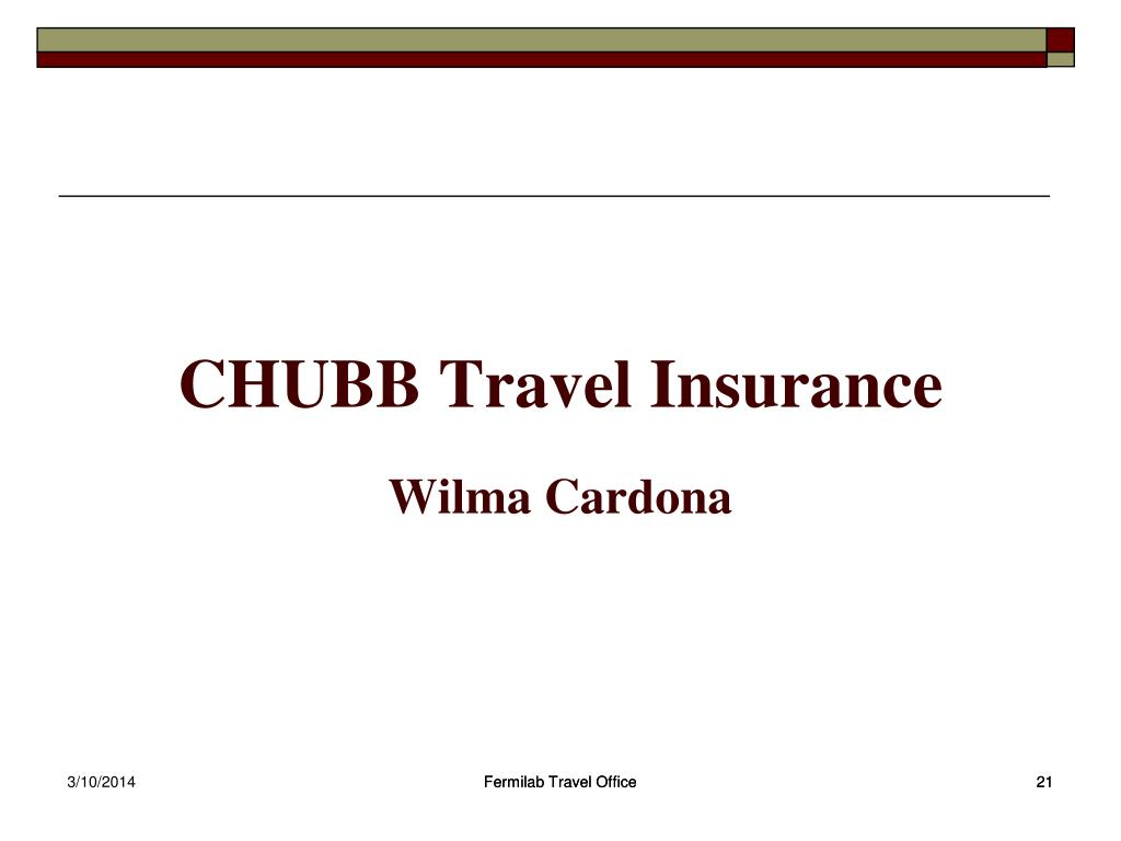 CHUBB Travel Insurance