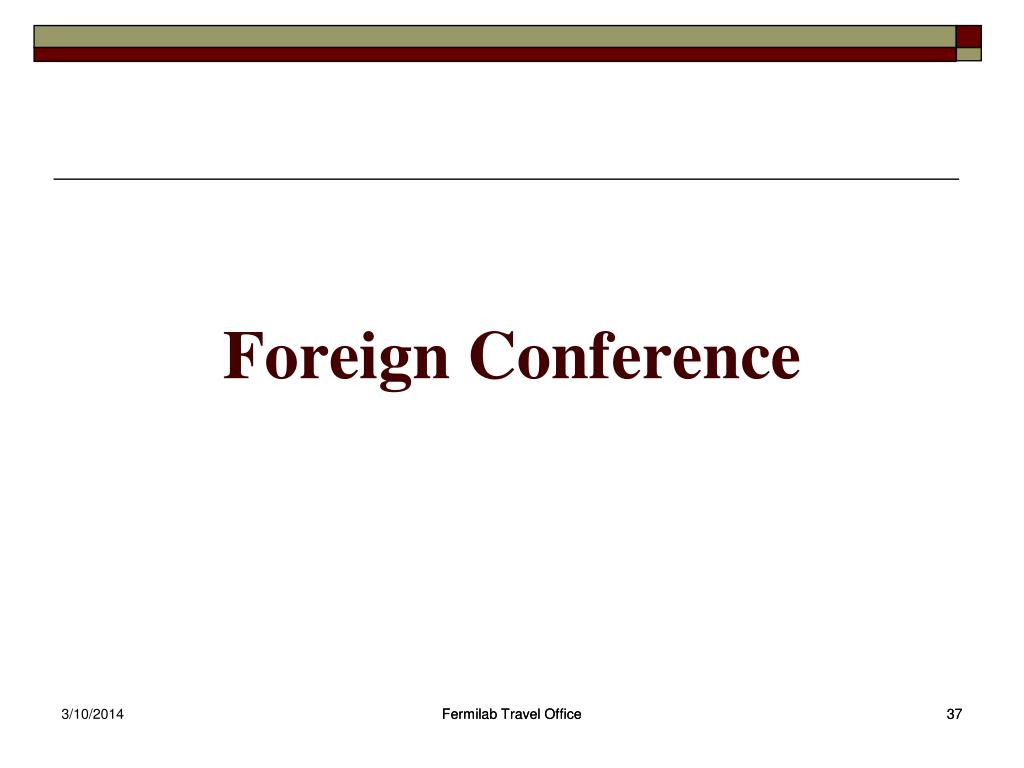 Foreign Conference