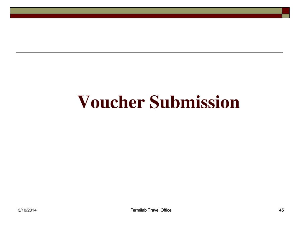 Voucher Submission