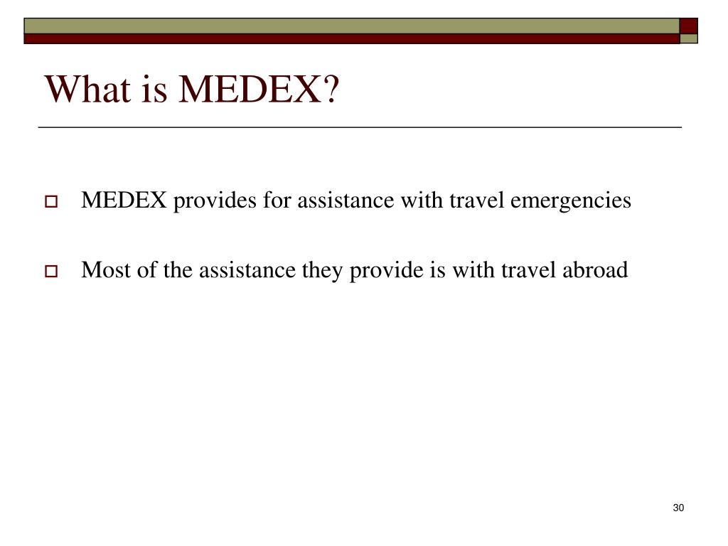 What is MEDEX?