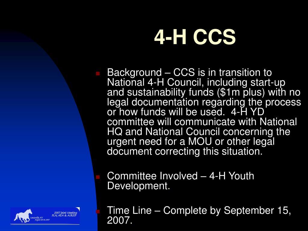4-H CCS