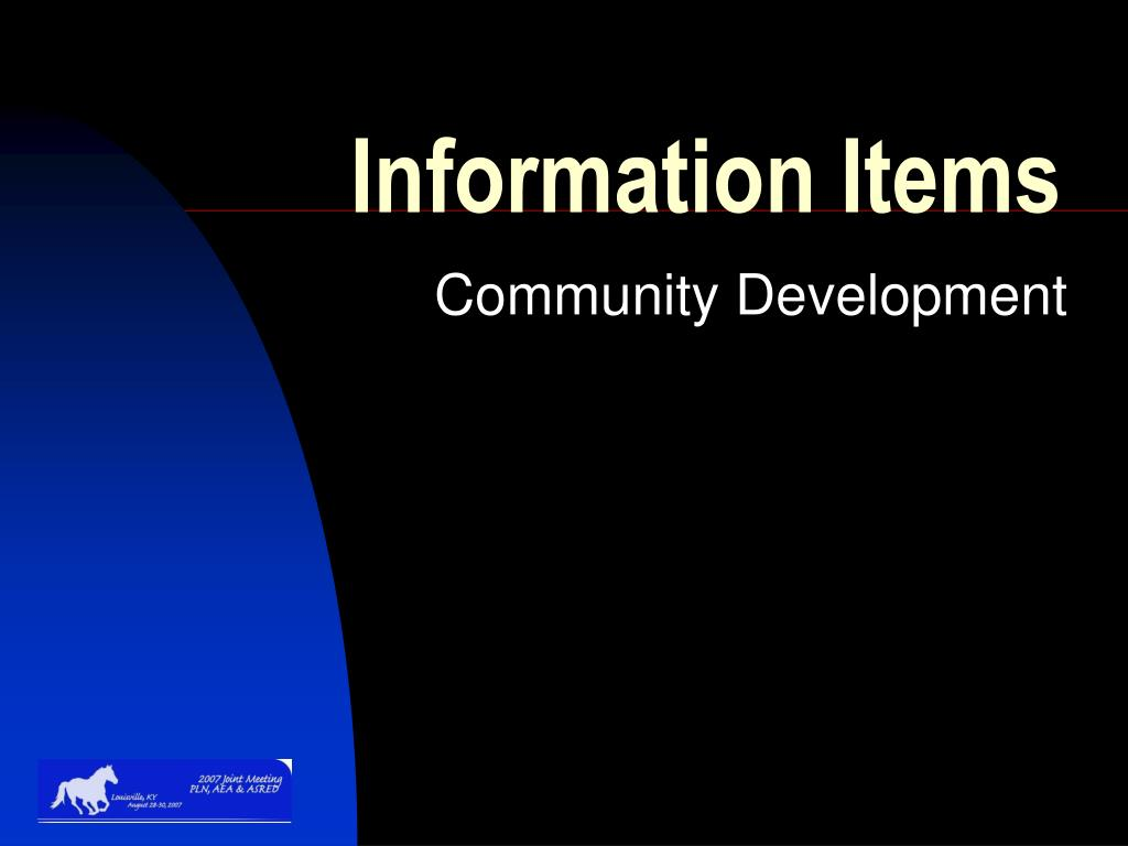 Information Items