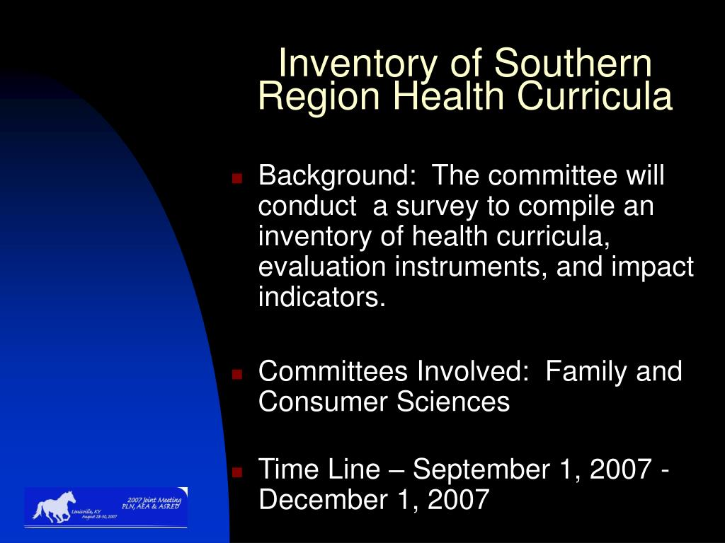 Inventory of Southern Region Health Curricula