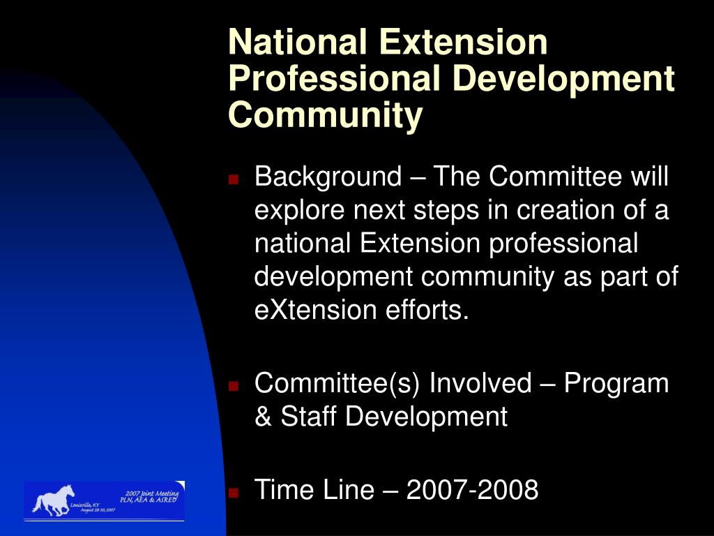 National Extension Professional Development Community