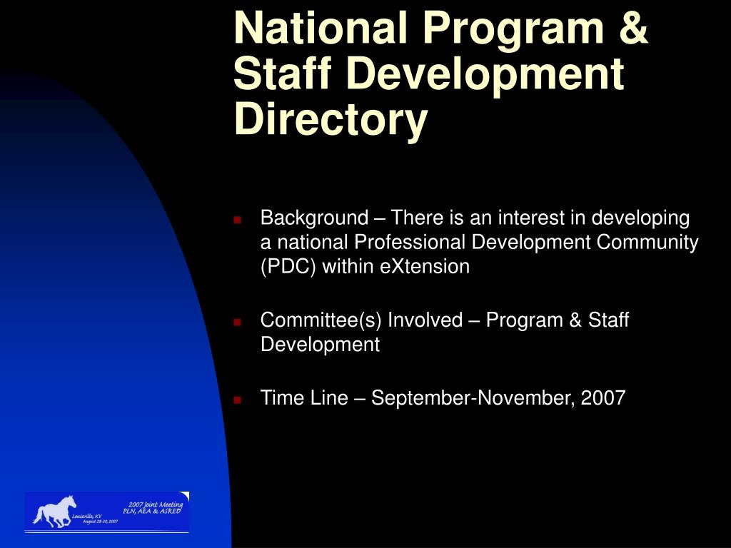 National Program & Staff Development Directory