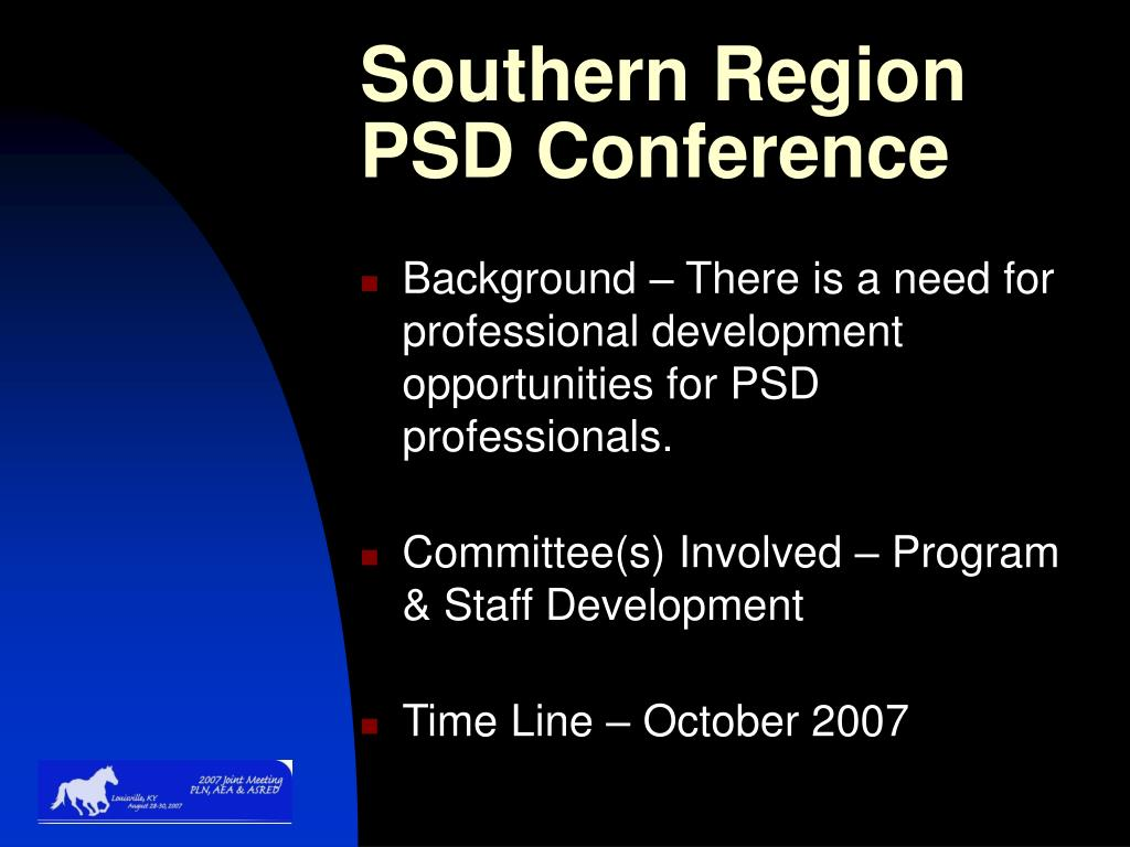 Southern Region PSD Conference