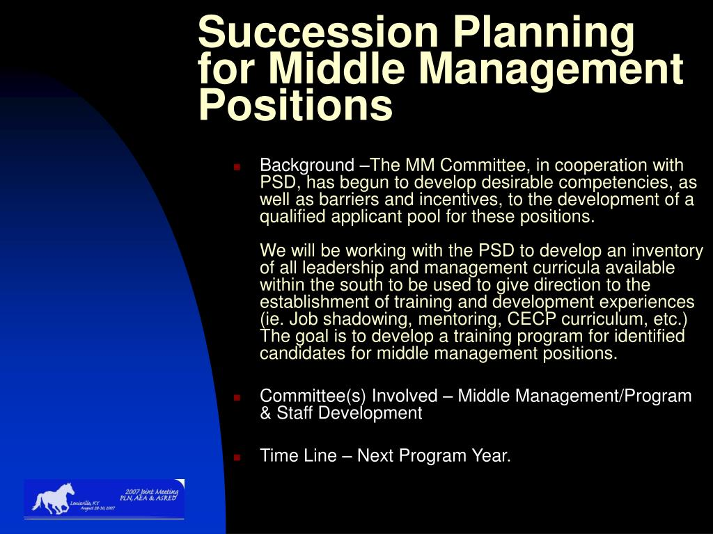 Succession Planning for Middle Management Positions