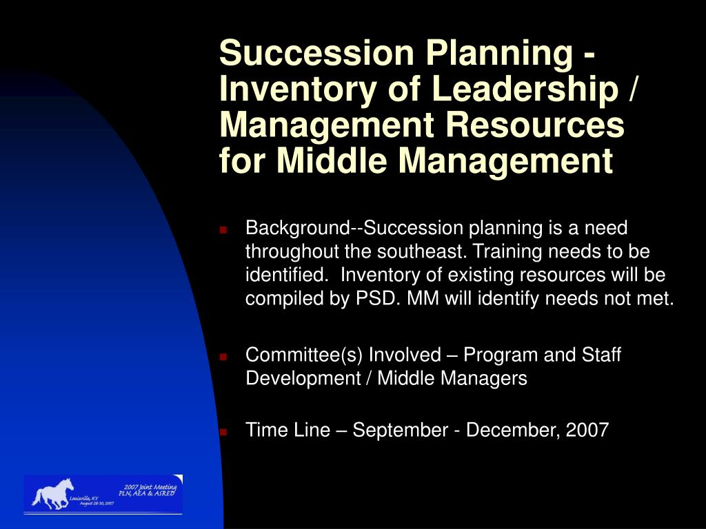 Succession Planning -Inventory of Leadership / Management Resources for Middle Management