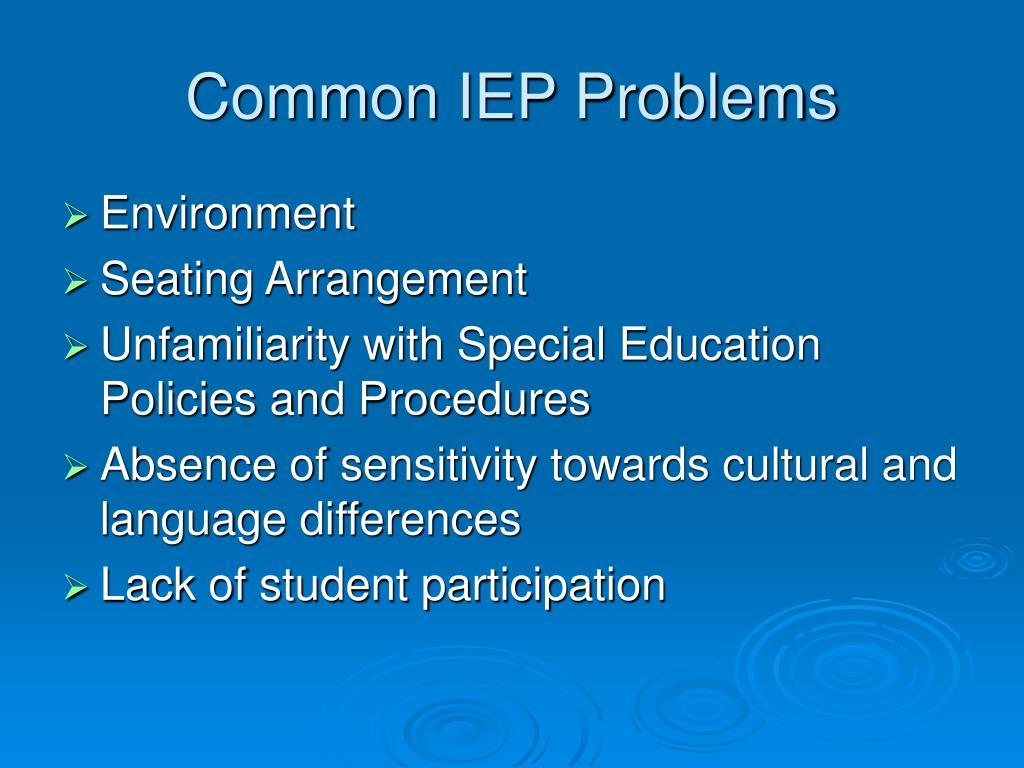 Common IEP Problems