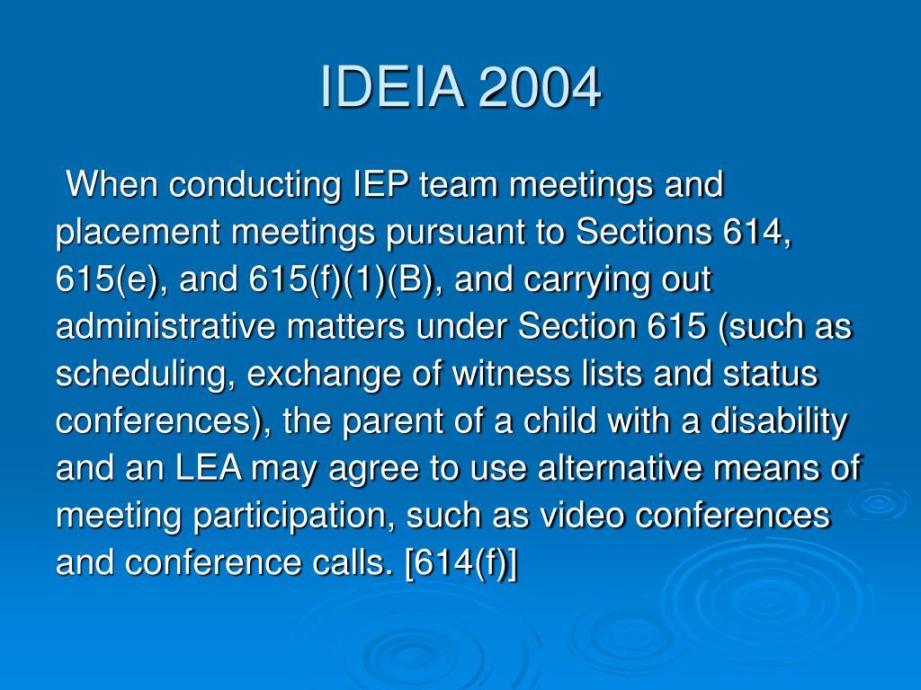 IDEIA 2004