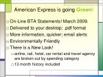 american express is going green