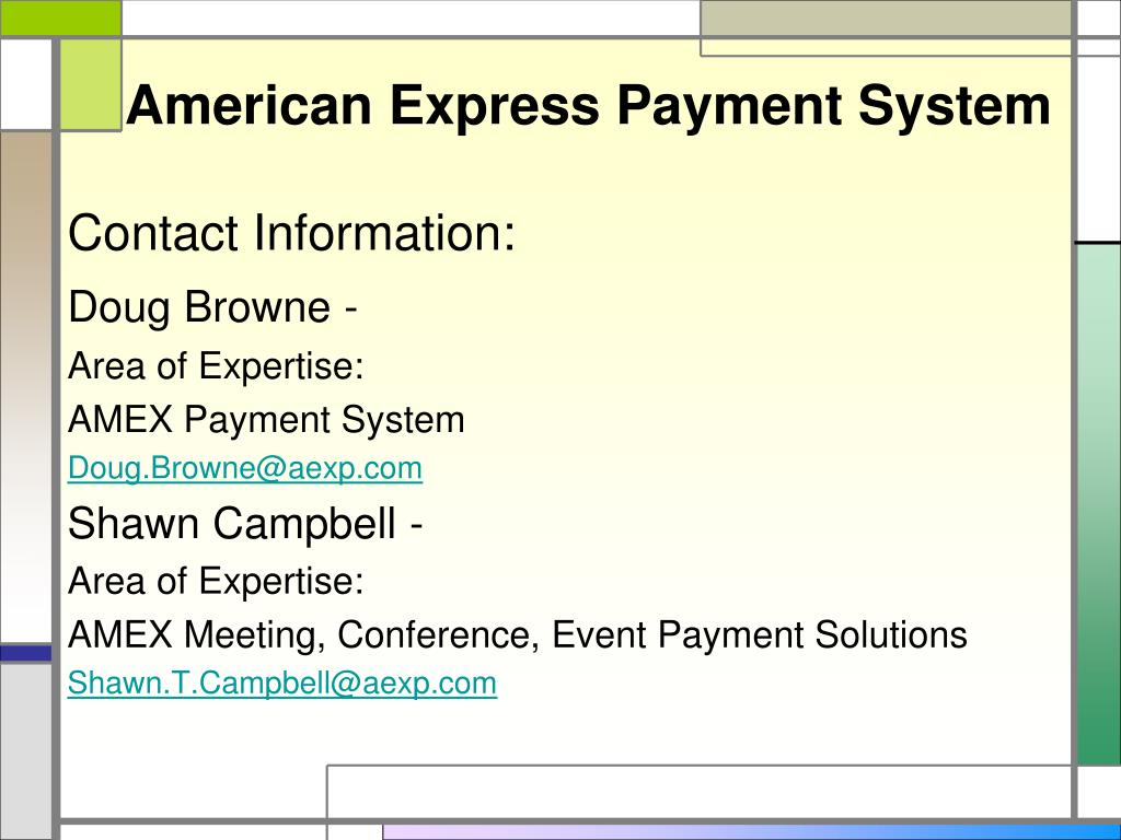 American Express Payment System