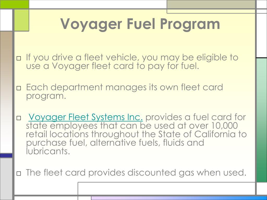 Voyager Fuel Program