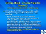 moving ahead creating value for members11
