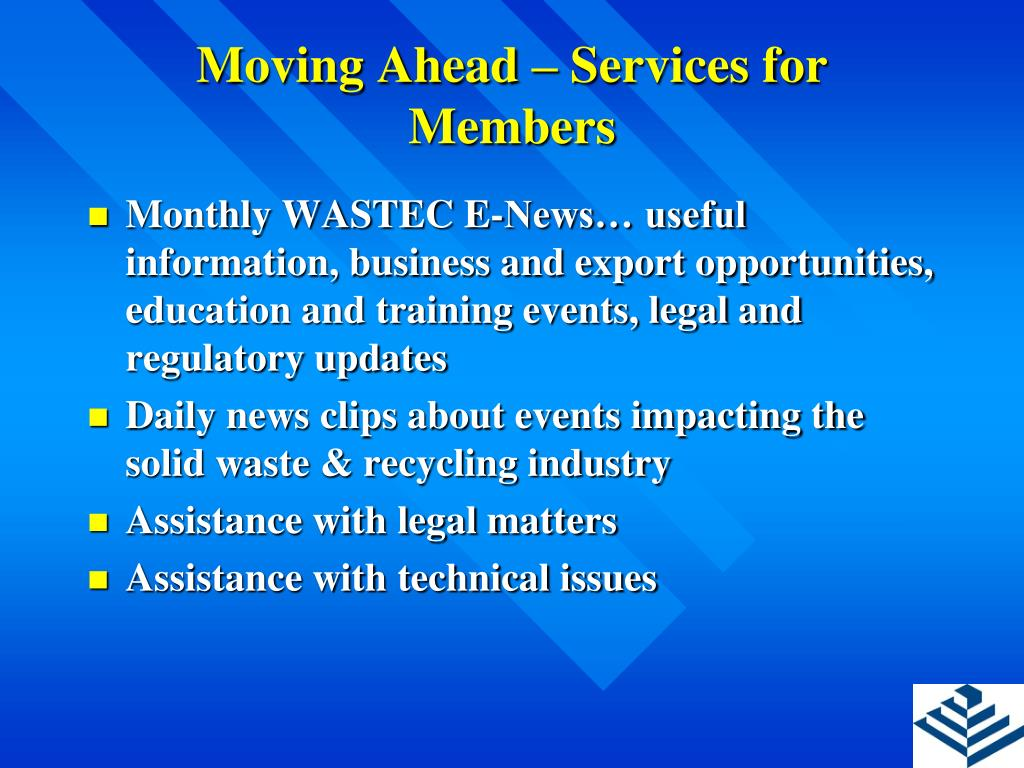 Moving Ahead – Services for Members